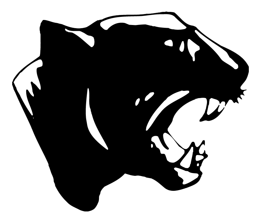 Panther clipart panther basketball. Russellville team home panthers