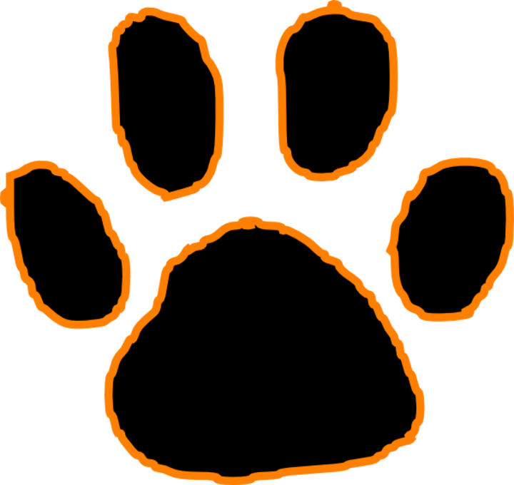 Paw clipart royalty free. The milton black panthers