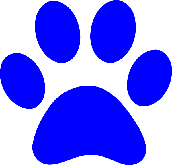 Paw print clip art. Pawprint clipart panther