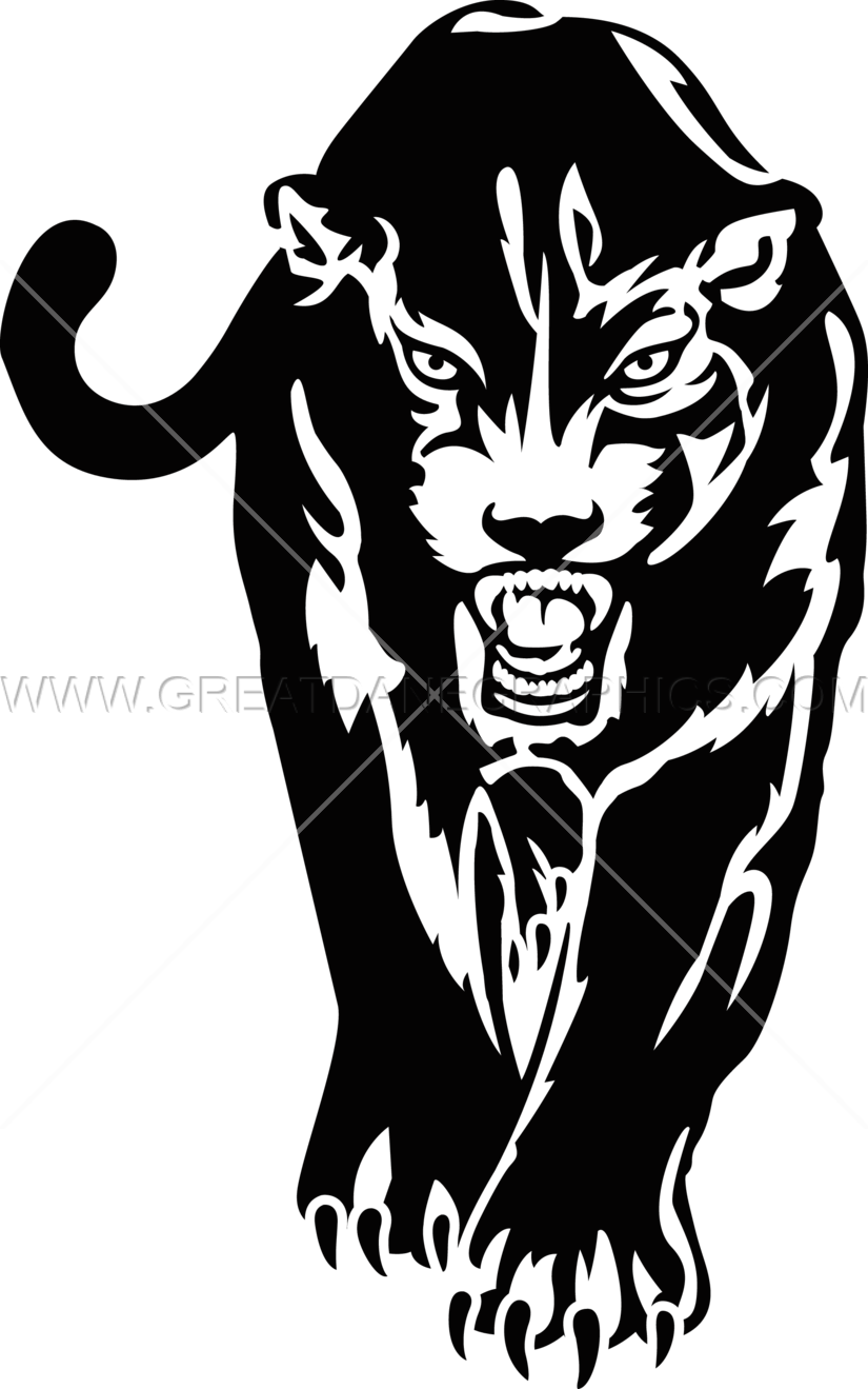 White clipart panther. Walking production ready artwork