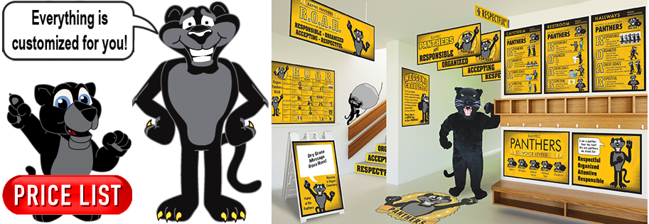 Mascot junction . Panther clipart school