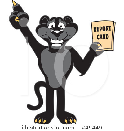 Panther clipart school. Mascot illustration by