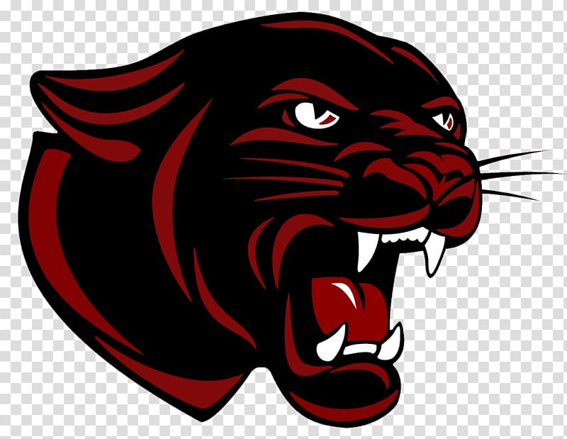 Black and red logo. Panther clipart sport
