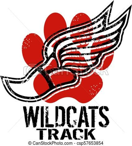 Panther clipart track. Wildcats csp earl ferguson