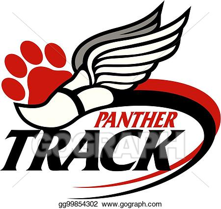 Panther clipart track. Vector illustration eps gg