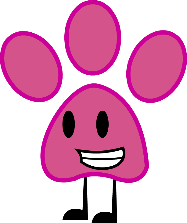 Pink paw print commission. Pawprint clipart panther