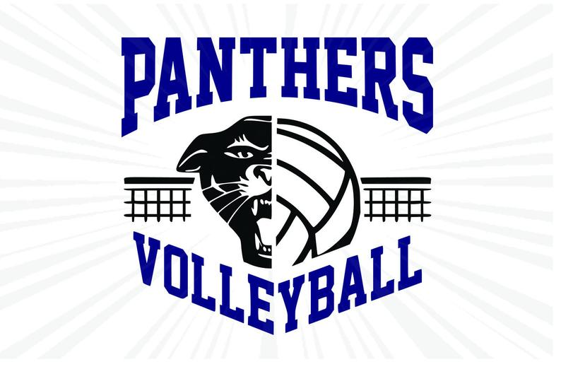 Panther clipart volleyball. Panthers svg t shirt