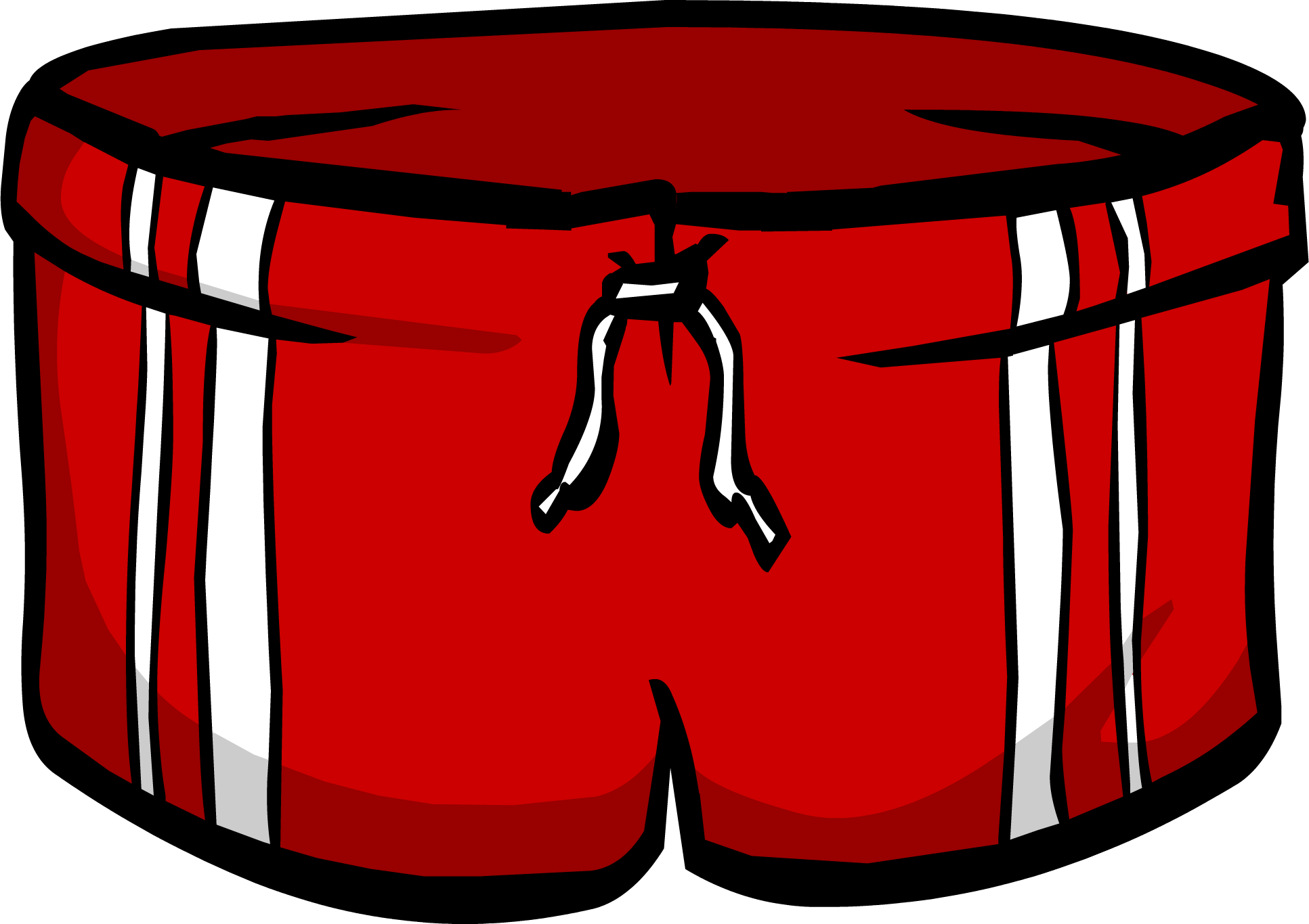 Swimsuit clipart swimming clothes. Red shorts club penguin