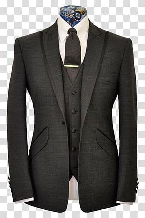 Man wearing black suit. Pants clipart coat pant