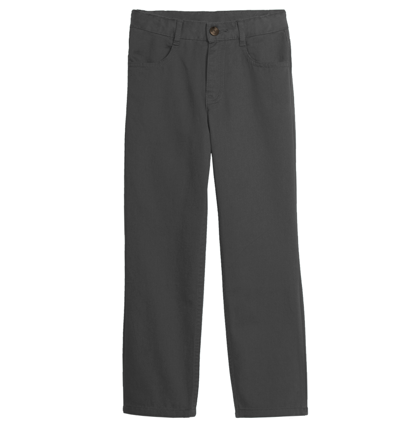 Kids chino pocket solid. Clipart pants school trousers