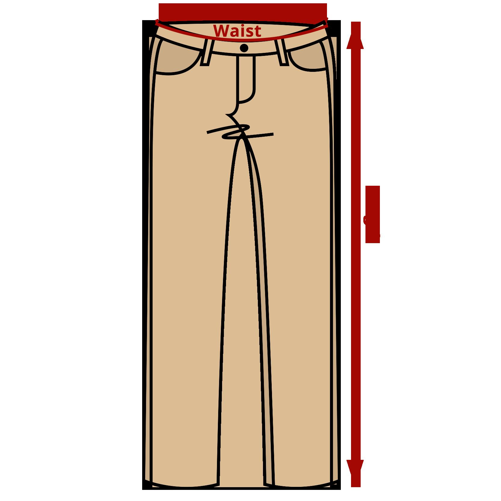 Measurement tips half. Pants clipart school trousers