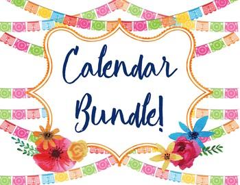 Calendar bundle by bartlett. Papel picado clipart