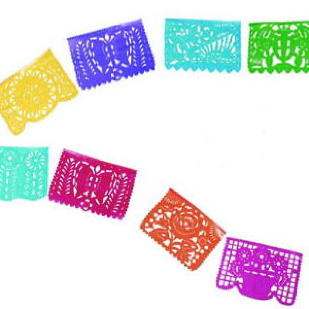Papel picado clipart. Banner traditional plastic mini