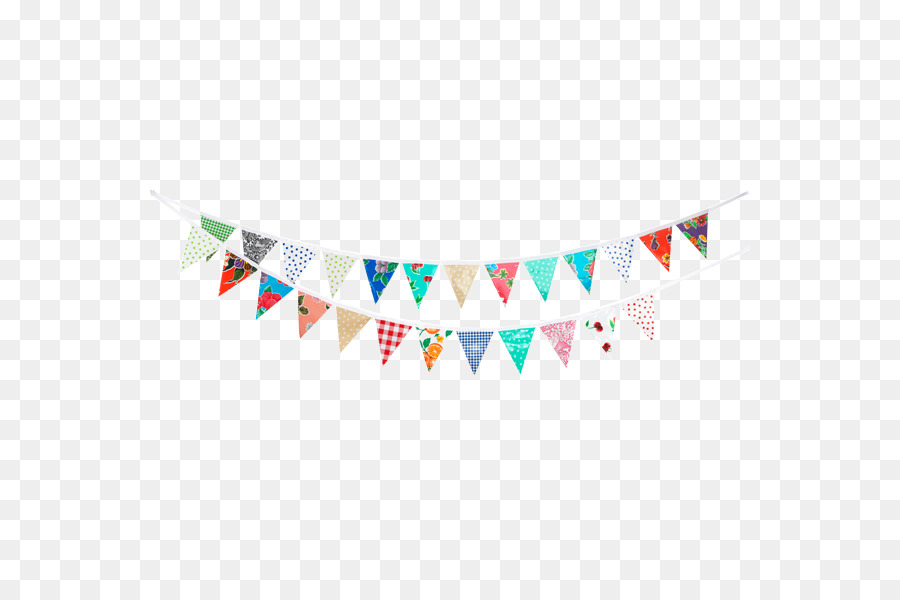 Paper bunting child party. Papel picado clipart