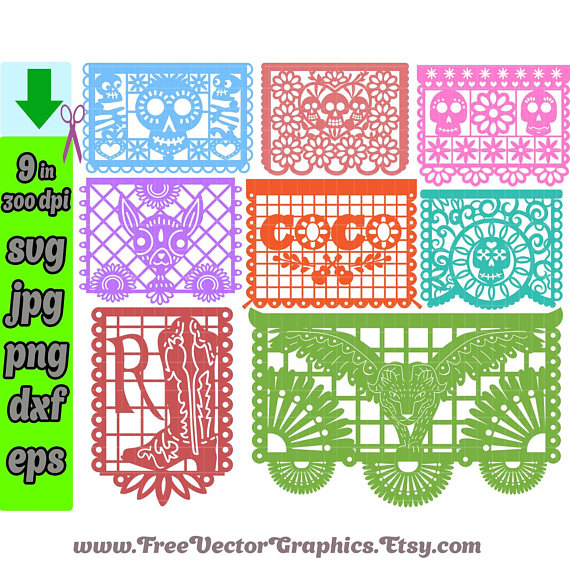 Papel Picado Banner Png - Papel Picado No Background - Free Transparent PNG  Clipart Images Download
