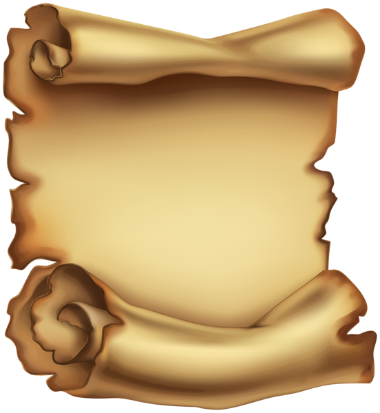 Old scrolled paper png. Scroll clipart document scroll