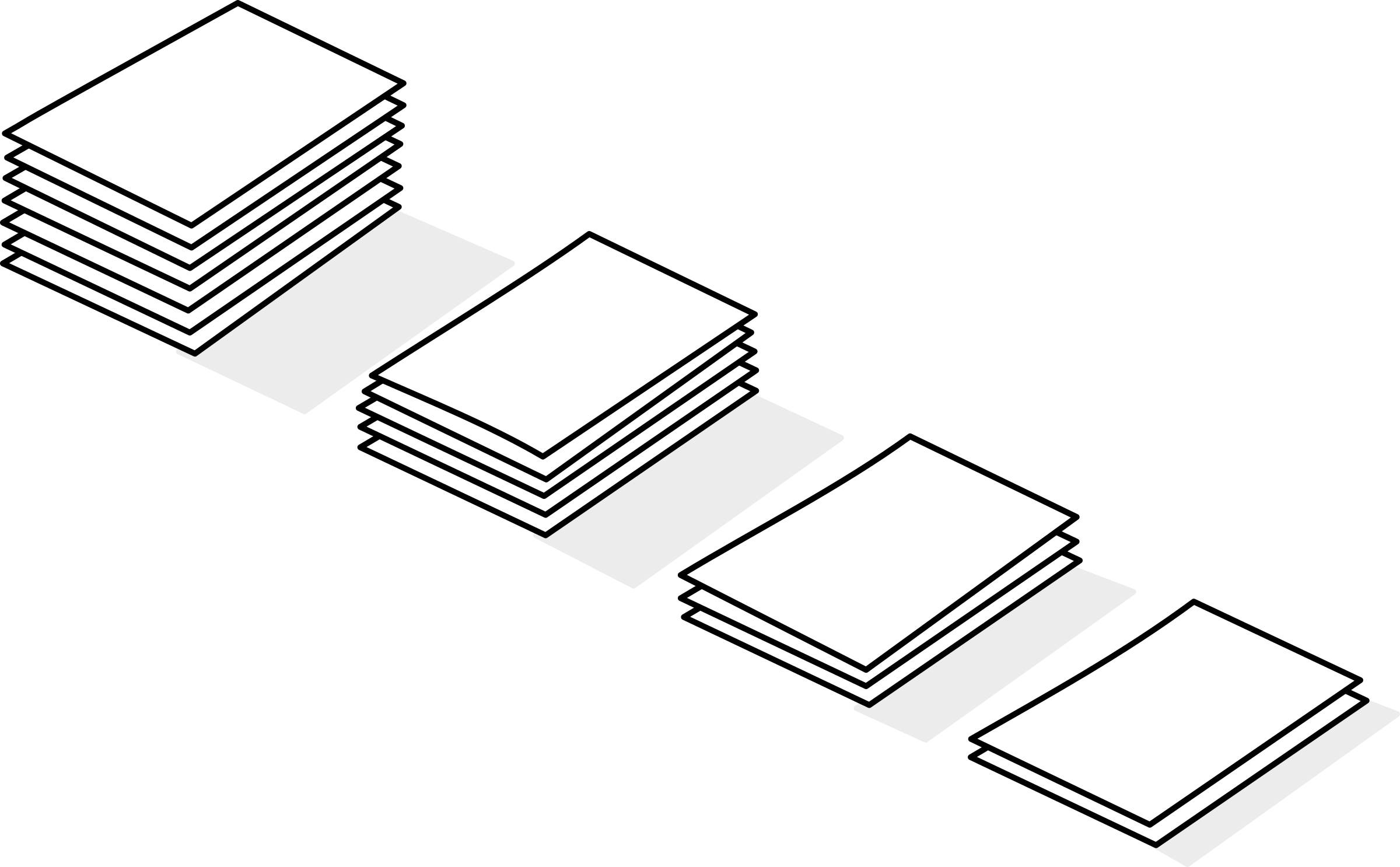 Piles of de papier. Paper clipart paper pile