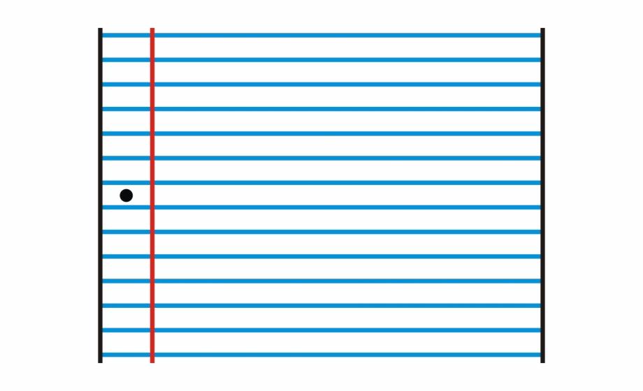 Paper clipart ruled paper. Lined majorelle blue transparent