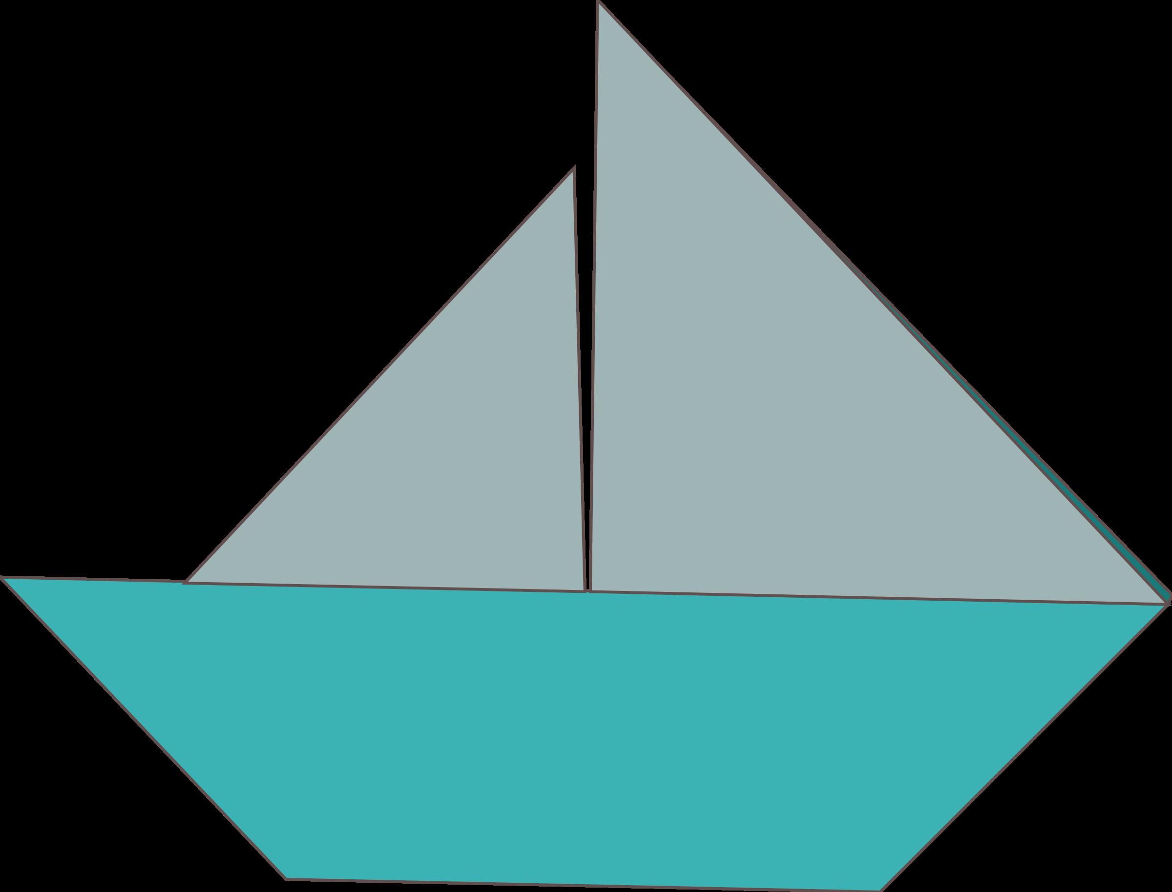 Origami big image png. Paper clipart sailboat