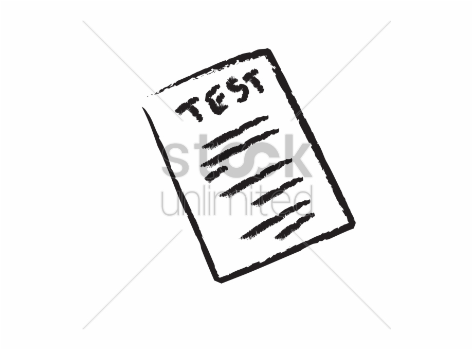 Paper exam cartoon png. Test clipart test papers