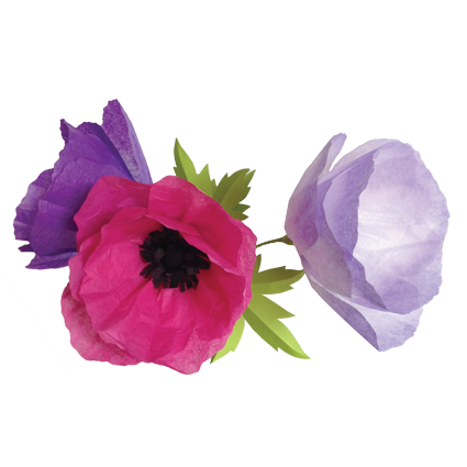 Get crafty with simple. Paper flower png