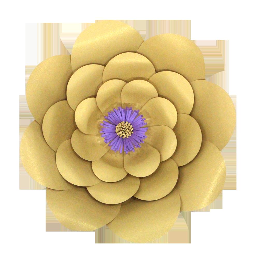 Paper flower png. Celebrationpeak gold three stack