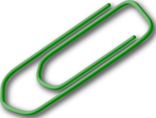 Green clip art at. Paperclip clipart