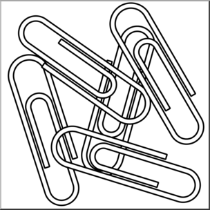 Paperclip clipart. Clip art paper clips