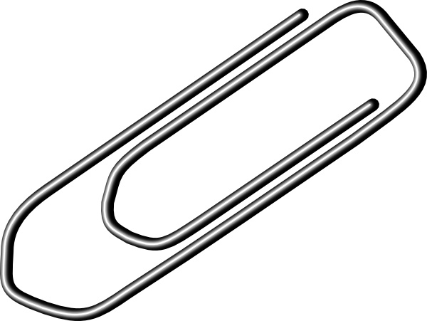 Paper clip art free. Paperclip clipart
