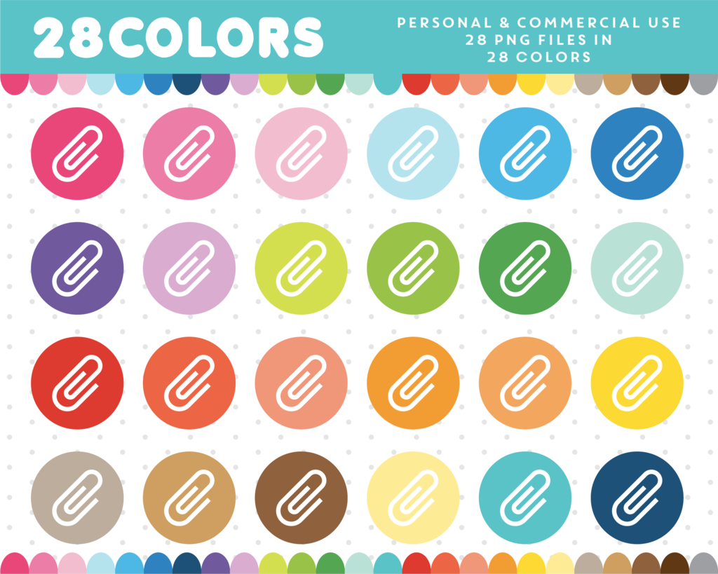 In colors cl paper. Paperclip clipart day