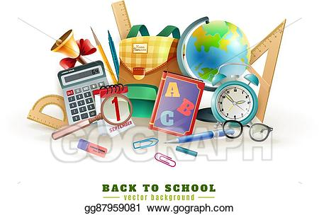 Vector stock back to. Paperclip clipart school accessory