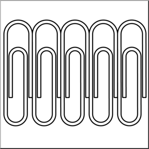 Clip art paper clips. Paperclip clipart teaching supply