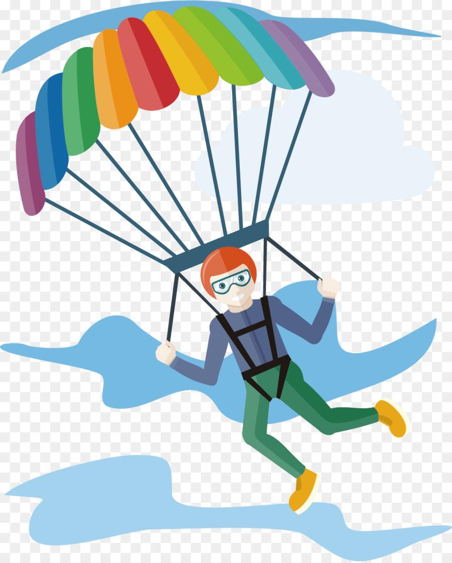 Parachute clipart. Parachuting clip art sport