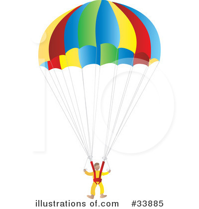 Illustration by rasmussen images. Parachute clipart