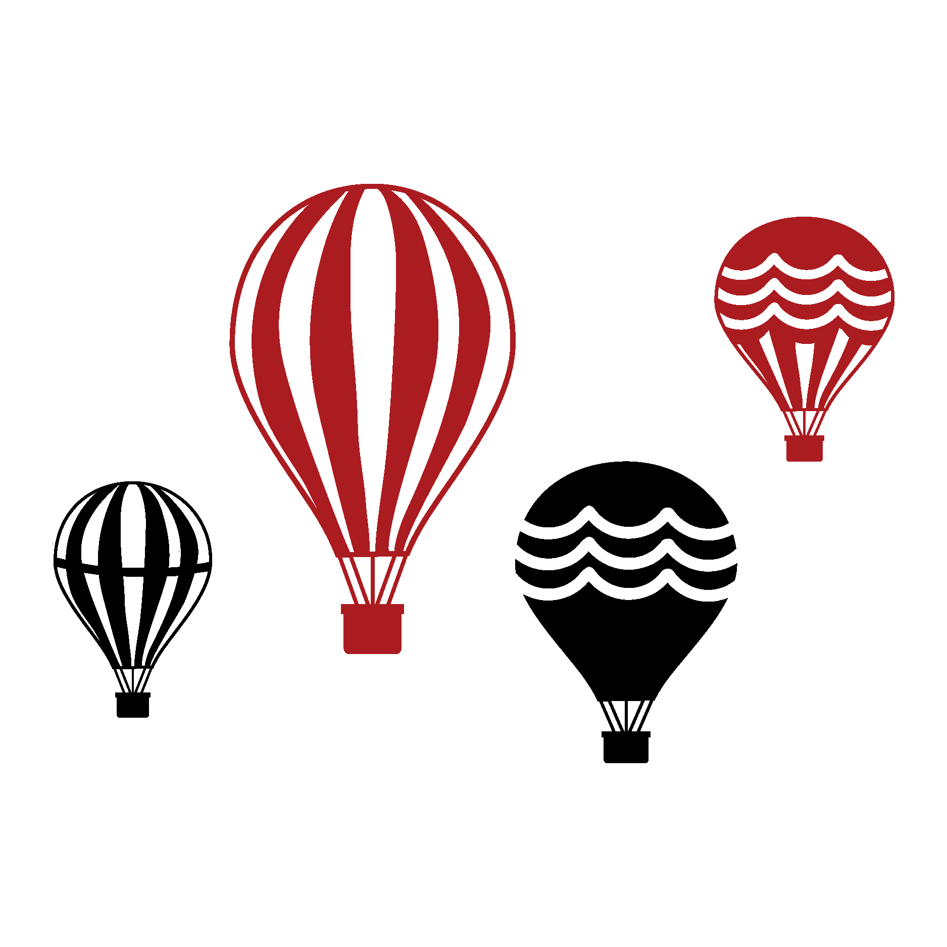 Parachute clipart air ballon. Vintage hot balloon collection