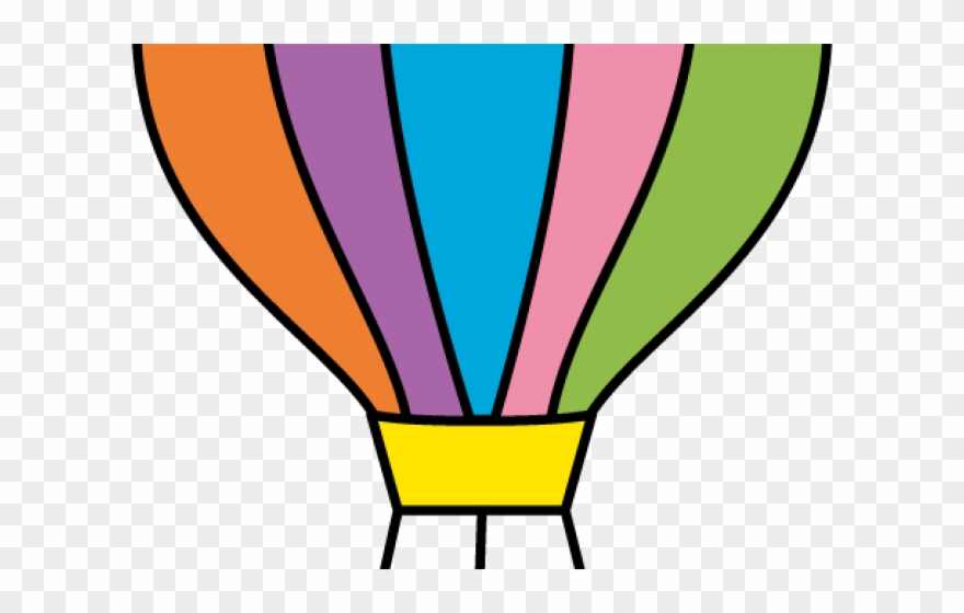 Parachute clipart air ballon. Cut out hot balloon