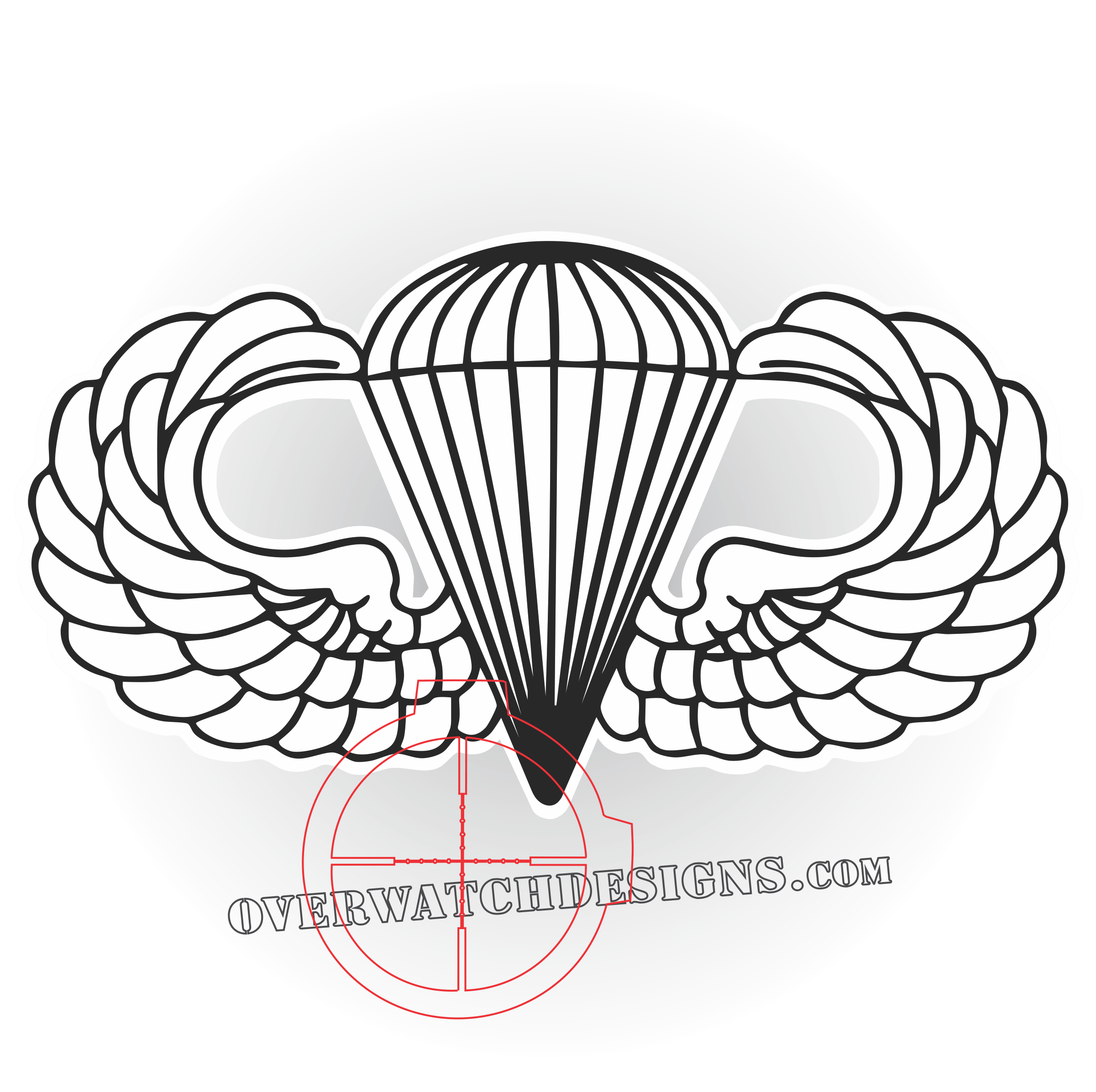 Paratrooper drawing at getdrawings. Wing clipart jumpmaster