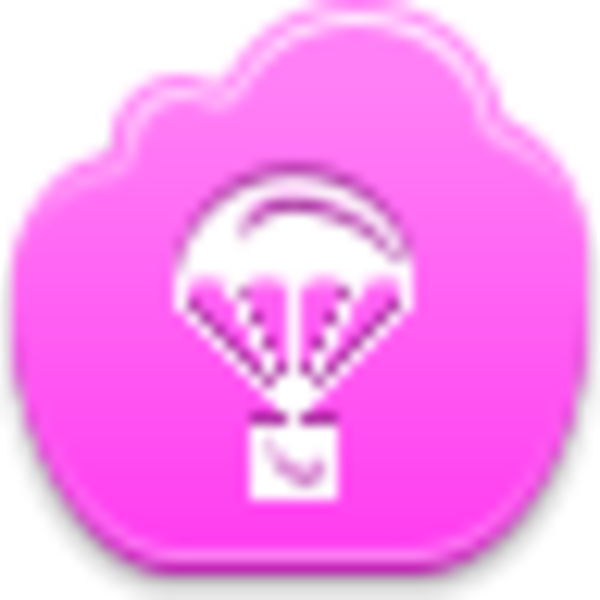 Icon free images at. Parachute clipart pink