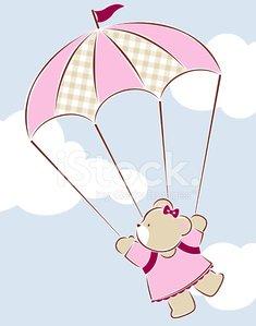 Parachute clipart pink. Bear premium clipartlogo com