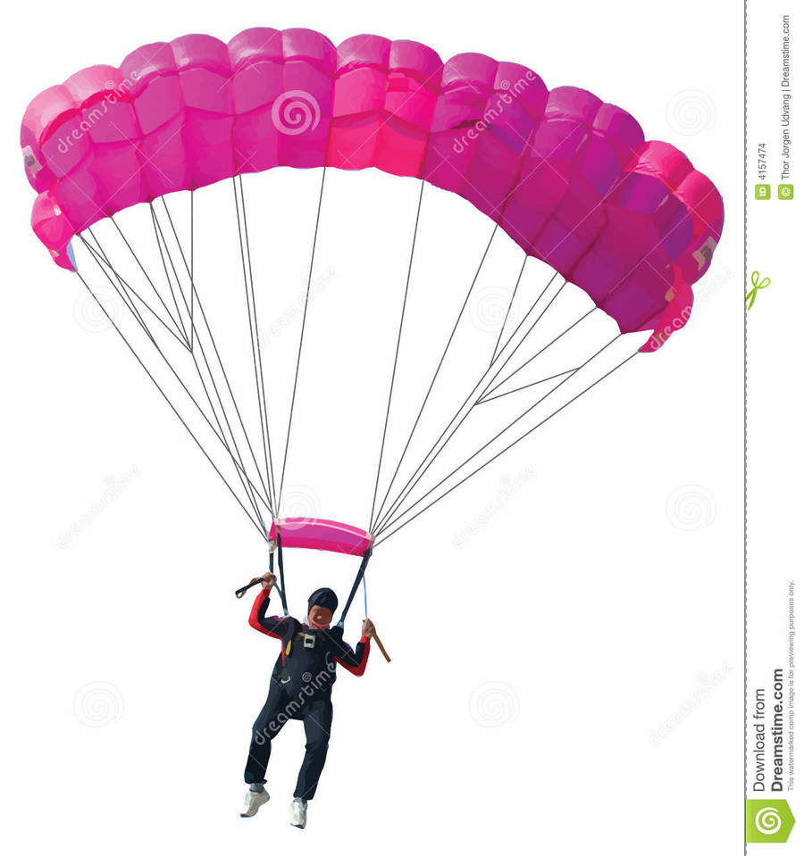 Parachute clipart pink. Download le parachuting