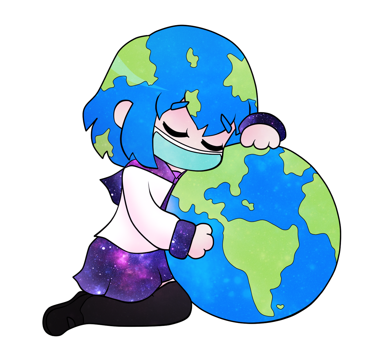 Image result for earth. Planeten clipart chibi