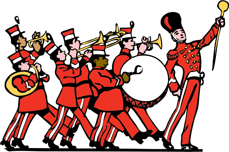 Support the shs marching. Applause clipart parade