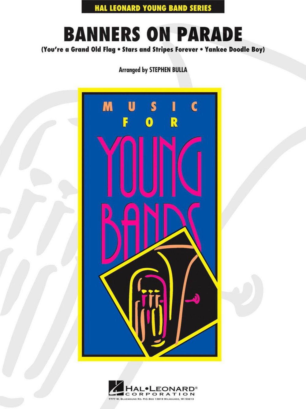 Parade clipart concert band. Hal leonard banners on