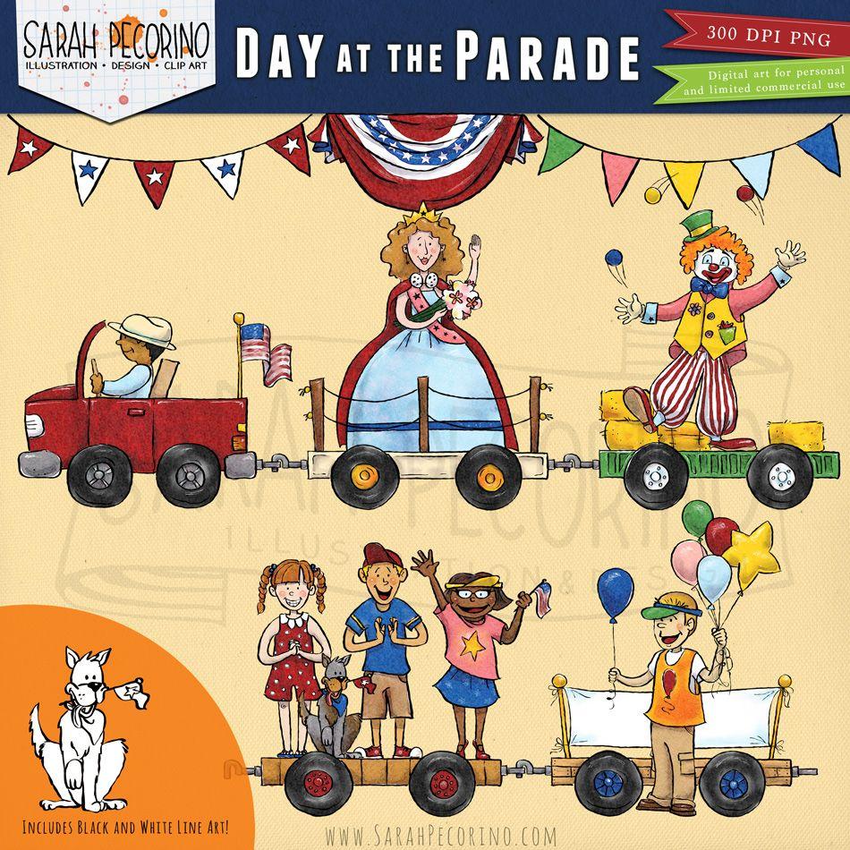 Parade clipart parade floats. Clip art by sarah