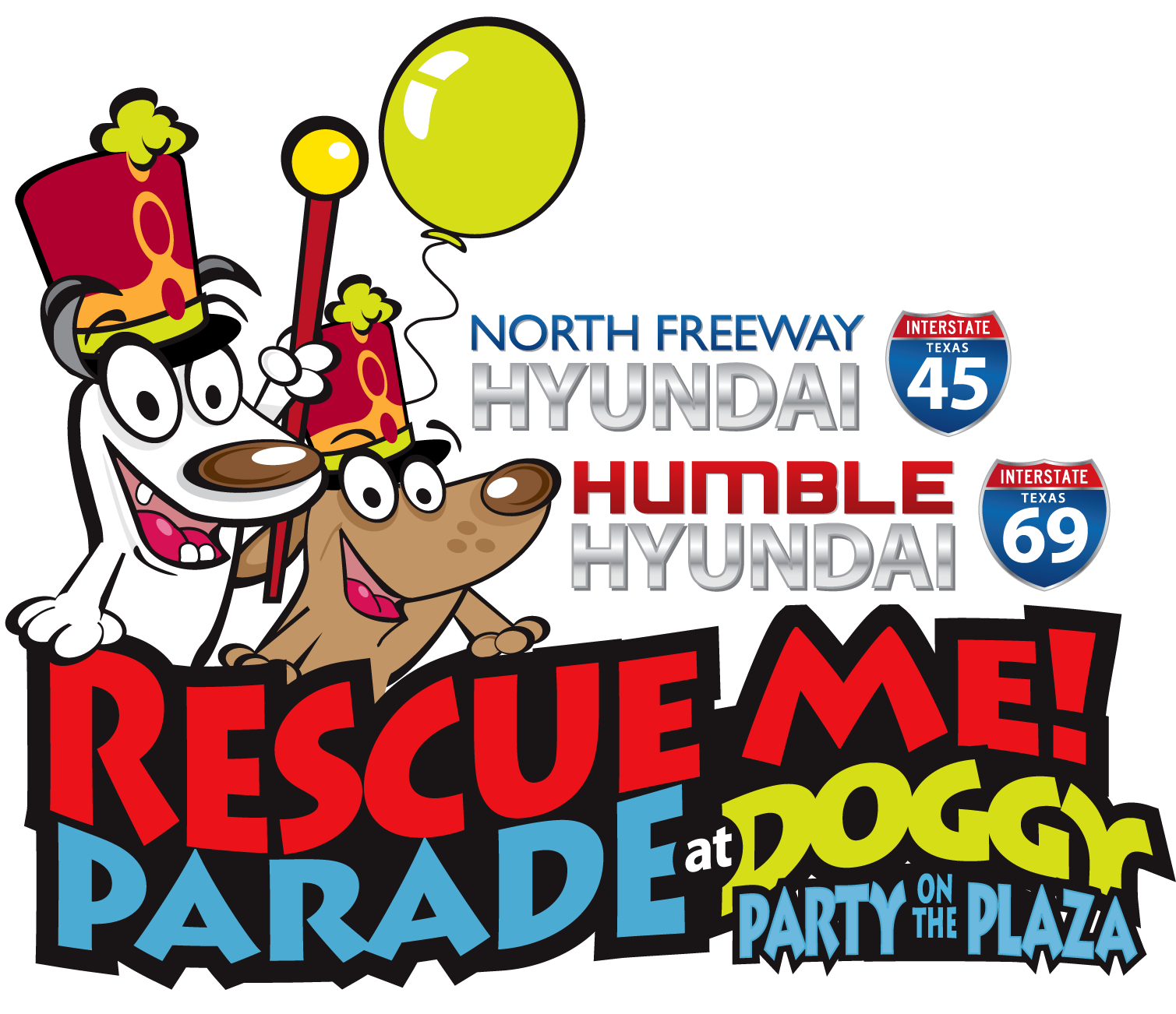 Rescue me doggy party. Parade clipart parade floats