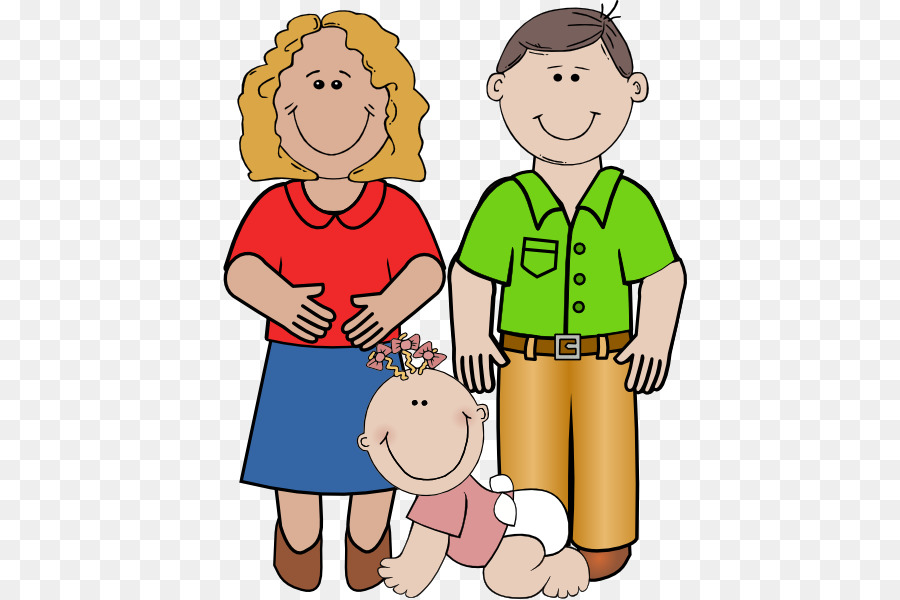 Parent clipart. Father mother daughter clip