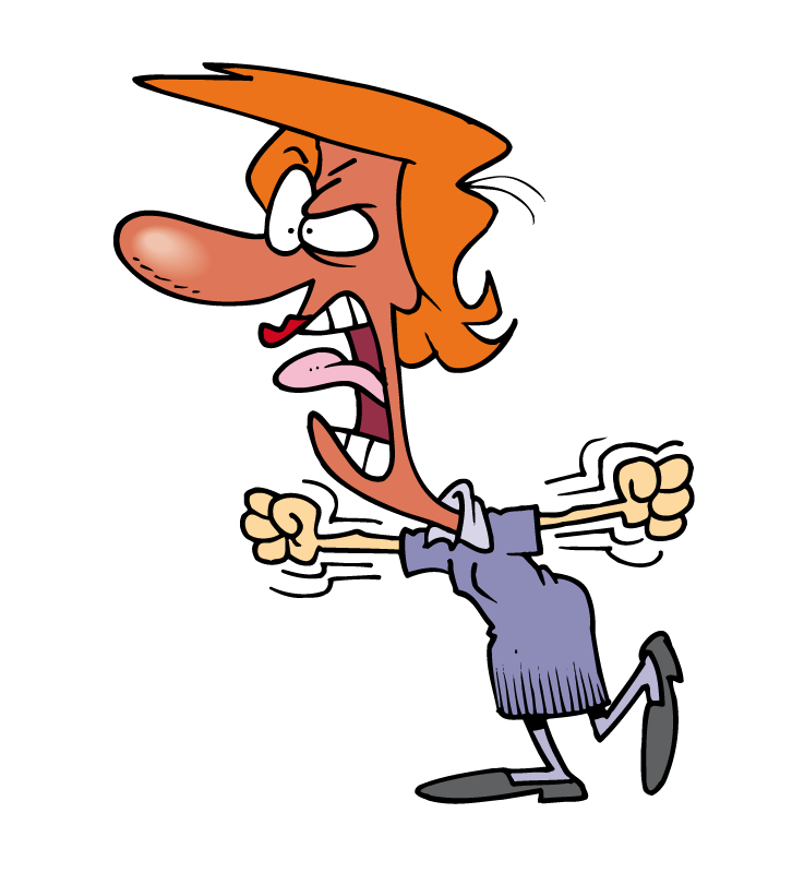 Parent clipart angry parent. Anger cartoon screaming clip