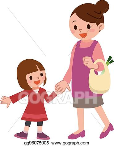 Parent clipart child drawing. Vector stock smile of