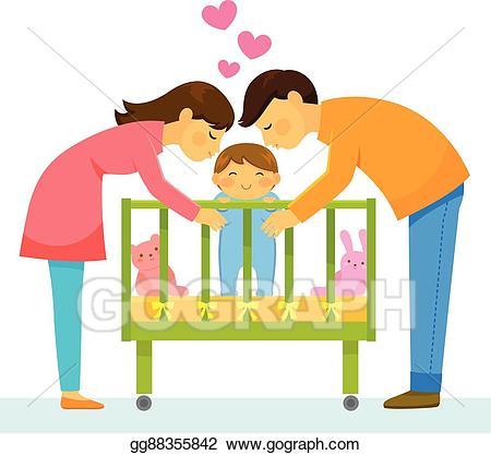 Vector art loving parents. Parent clipart mother father