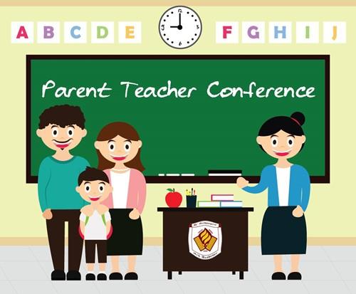 Parent clipart parent teacher conference. October day double